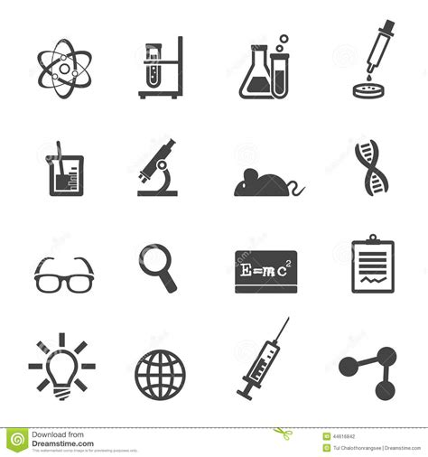 science and laboratory icons stock illustration image