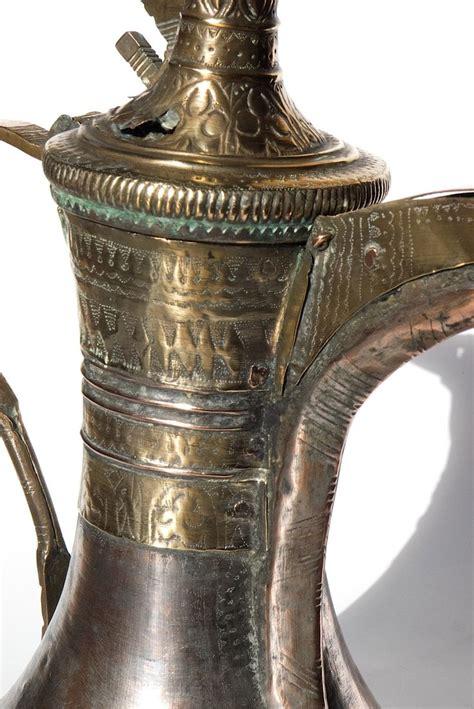 Nizwa Set great size antique nizwa arabian coffee pot dallah oman with beautiful engravings