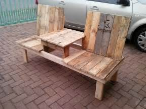 Plans For Picnic Tables And Benches by Pallet Double Chair Bench Design 99 Pallets