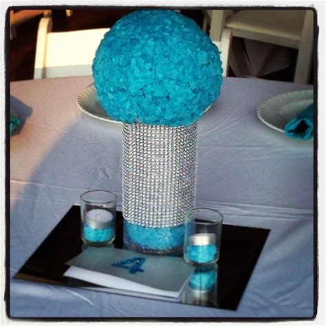 sweet 16 centerpieces and decorations rock glitz sweet sixteen centerpiece blue sweet 16 sweet sixteen