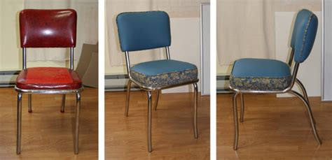 beginner upholstery workshop chair exle before after