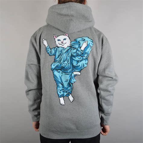 Hoodie Lord Noval Clothing rip n dip holy lord nermal pullover hoodie grey