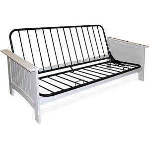 cottage grove size futon frame white furniture