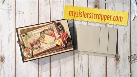 scrapbooking tutorials mini album sisters large mini album tutorial graphic 45 safari adventure