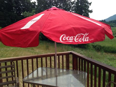 Coca Cola Patio Umbrella Coca Cola Canvas Patio Umbrella Brand New Nanaimo Nanaimo
