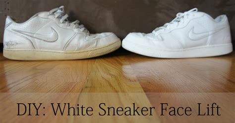 positively diy how to clean white sneakers
