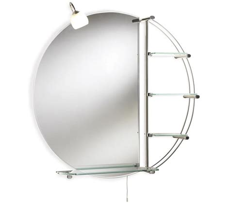 chrome bathroom mirrors bathroom mirrors with shelves lauren magnum chrome 800mm round mirror with light and