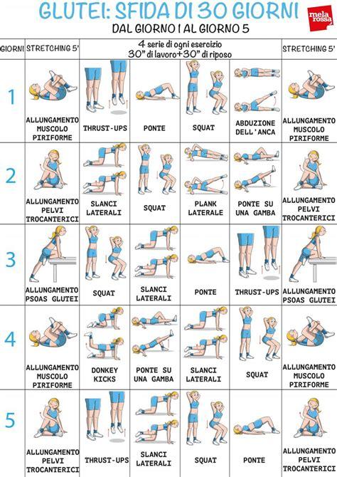 scheda esercizi casa esercizi glutei il programma per tonificarli in 30 giorni