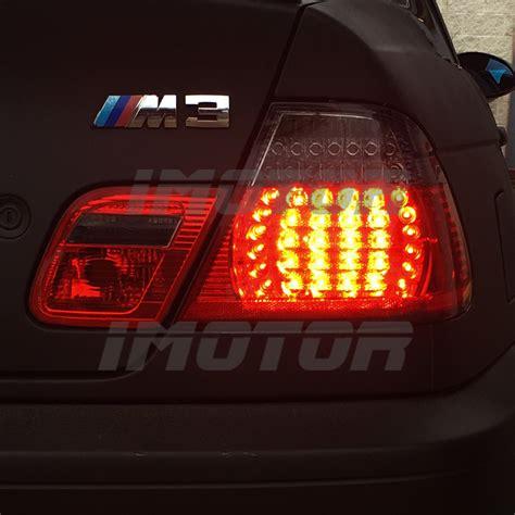 e46 m3 led tail light conversion 2000 2001 2002 2003 bmw e46 325ci 330ci m3 coupe red smoke