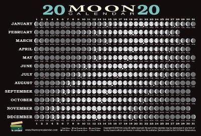 moon calendar card  pack kim long