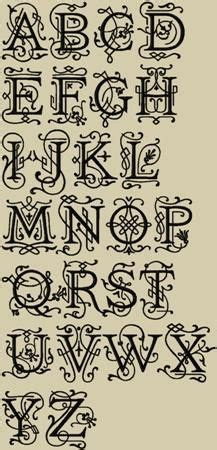 tattoo fonts and sizes ornamental monogram machine embroidery font 4 sizes