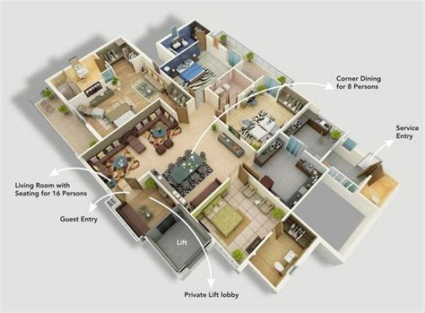 4 bedroom apartment 50 four 4 bedroom apartment house plans bedroom