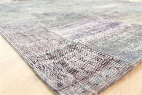 Handmade Wool - 46229 handmade wool reclaimed overdyed patchwork rug from