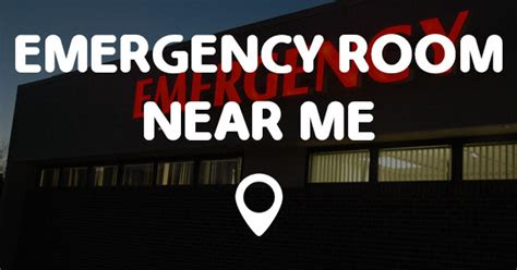 Closest Emergency Room To Location by Emergency Room Near Me Points Near Me