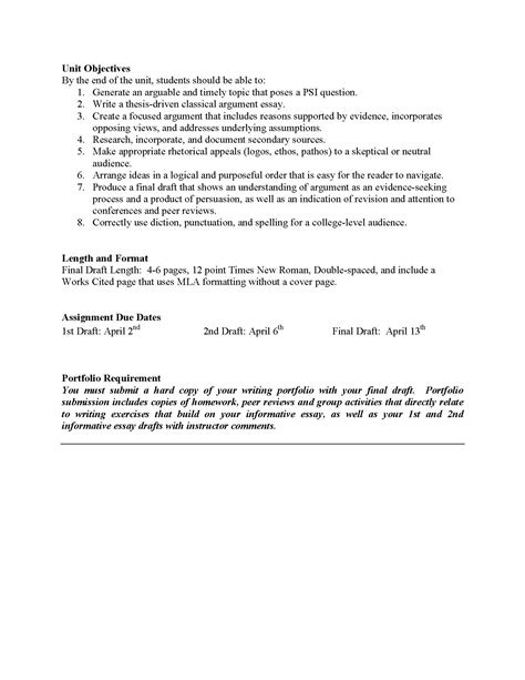 Argument Essay Sle Papers by Unit 3 Classical Argument The Inside Me