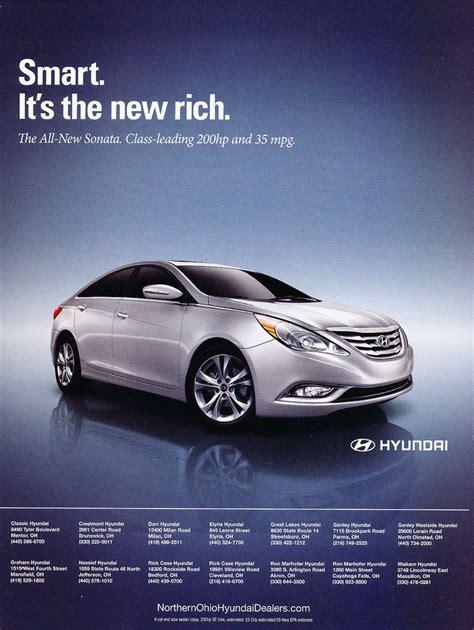 car advertisement 2010 hyundai sonata smart rich original car