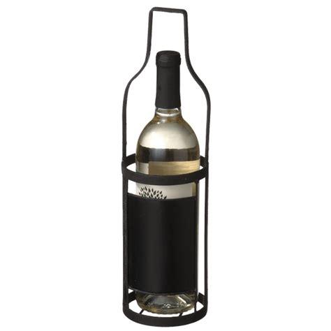 single wine bottle holder metal single wine bottle holder with chalkboard label