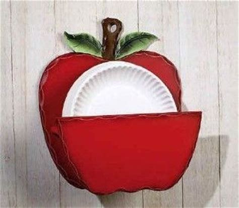 apple home decor accessories country kitchen red apple paper plate holder home decor