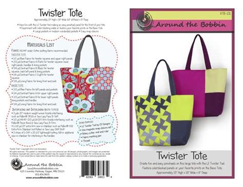 twister tote bag pattern twister tote 783583398534