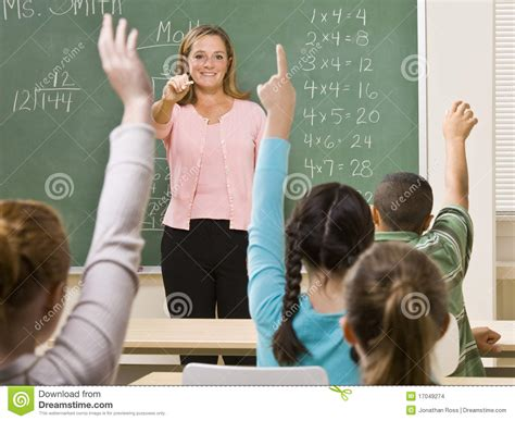voy boys salon students answering teacher question stock photo image of