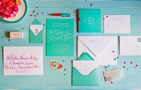 Tiffiny Blue Wedding Invitation Paper by Adrienne Josh S Blue Calligraphy Wedding Invitations
