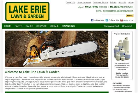 Lake Erie Lawn And Garden the platinum web custom designs for information
