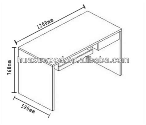 standard desk length study desk dimensions images
