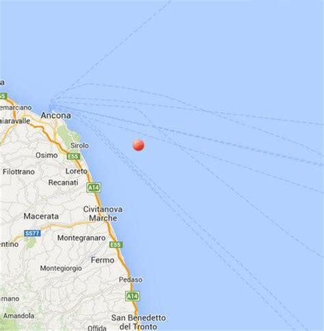 previsioni porto recanati terremoto marche scossa avvertita fra ancona numana