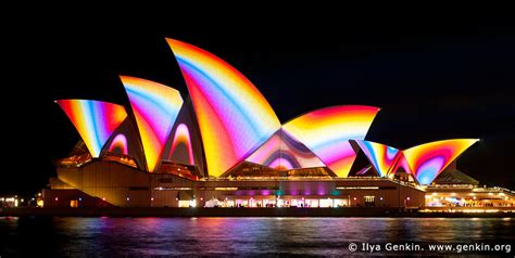 lighting the sails vivid sydney nsw australia ilya