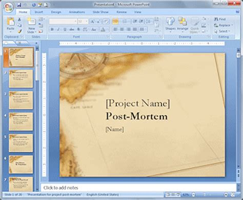 post mortem template powerpoint computer literacy 101 working with presentations format