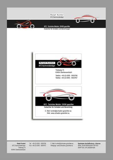 Visitenkarten Website by Webdesign Aschaffenburg Werbeagentur Einfachsehen
