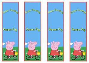 peppa pig bookmarks birthday printable