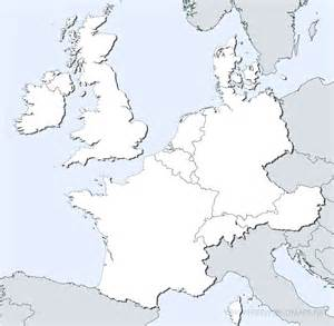 Western Europe Blank Map by Western Europe Political Map