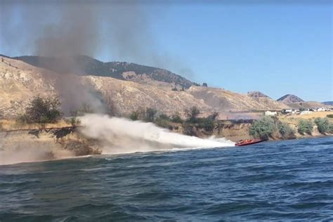 kamloops fire boat video kamloops boaters become b c s newest firefighters