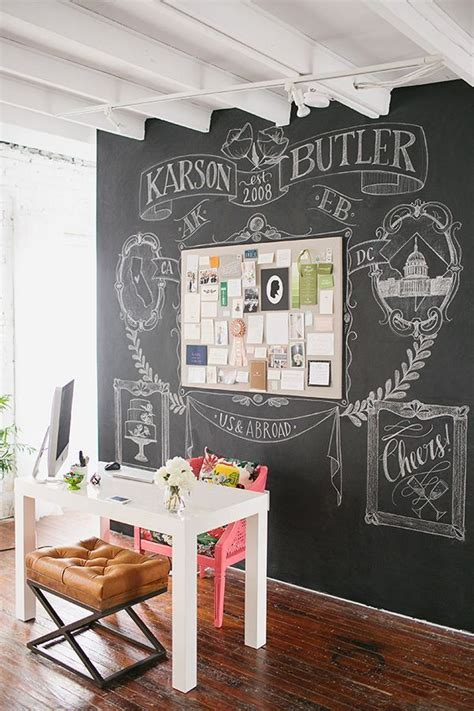 office walls ideas 32 smart chalkboard home office d 233 cor ideas digsdigs