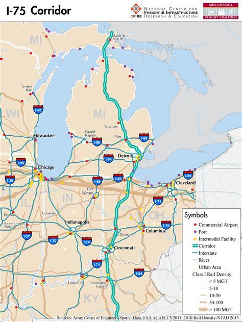kentucky map i 75 i 75 mid america freight coalition