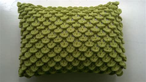 Knit A Bit Crochet Away Pattern Crocodile Stitch Pillow