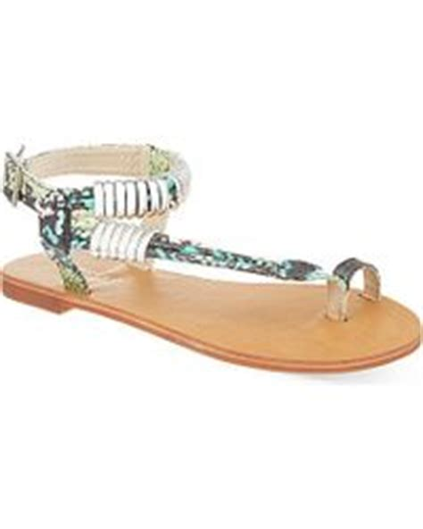 Klip Flatshoes carvela kurt geiger klip jewelled flat sandal in blue turquoise lyst