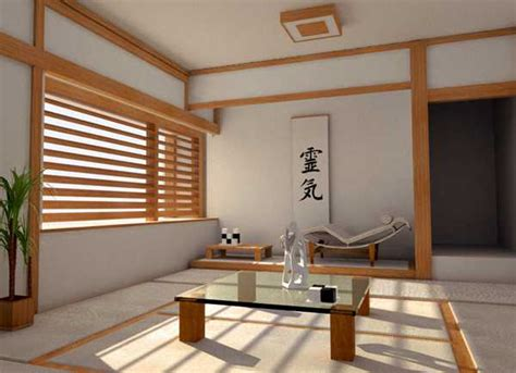 asian interior decorating in japanese style