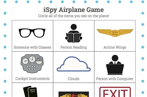 printable games to play on a plane airplane ispy game free printable vacation baby pinterest