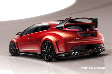 honda r type new 300hp honda civic type r concept teased before geneva