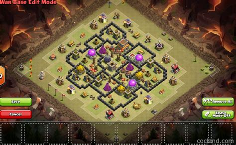 town hall 8 war base mousetrap town hall 8 tricky war base clash of clans land