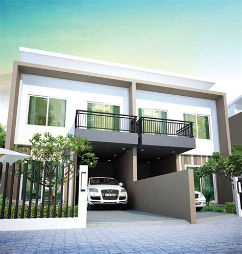 6 Bedroom Floor Plans For House by Baan Salil Baan Salil Twin House Plans And Specs Baan Salil