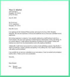 technical writer cover letter example cover letter help