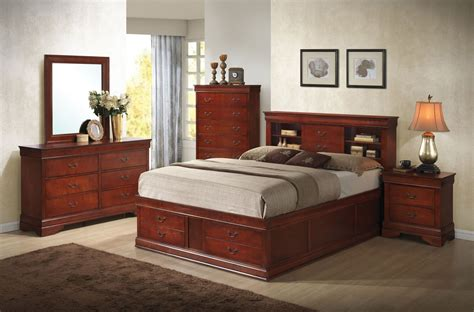 louis philippe cherry storage bedroom set 200439q coaster
