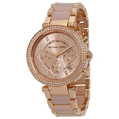 michael kors blush gold tone and blush
