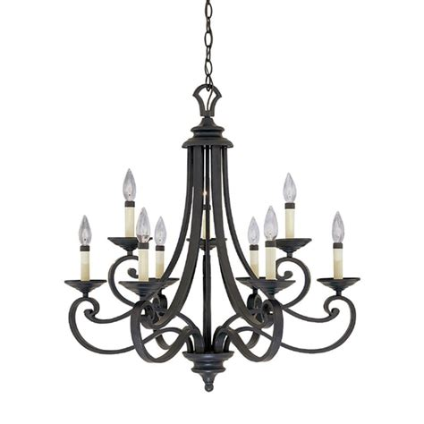 Chandeliers Iron Designers Monte Carlo 9 Light Hanging Iron Chandelier 9039 Ni The Home Depot