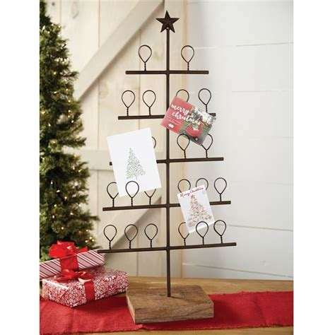 metal tree christmas card holder mud pie