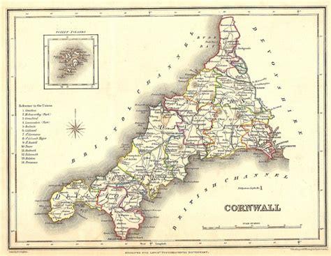 map uk cornwall cornwall map
