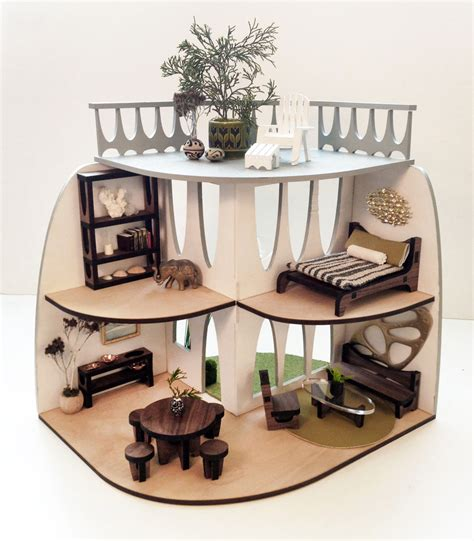 contemporary doll house sustainable mid century modern dollhouse and furniture design milk